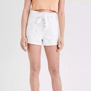 American Eagle Denim Paper-Bag Shorts